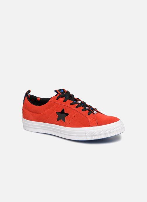 42f7ee78378e7 Sneaker Converse One Star Ox Fiery Hello Kitty rot detaillierte ansicht  modell