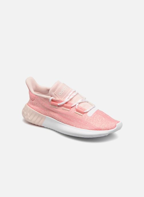 outlet store 869c6 bc294 Baskets Adidas Originals Tubular Dusk J Rose vue détail paire