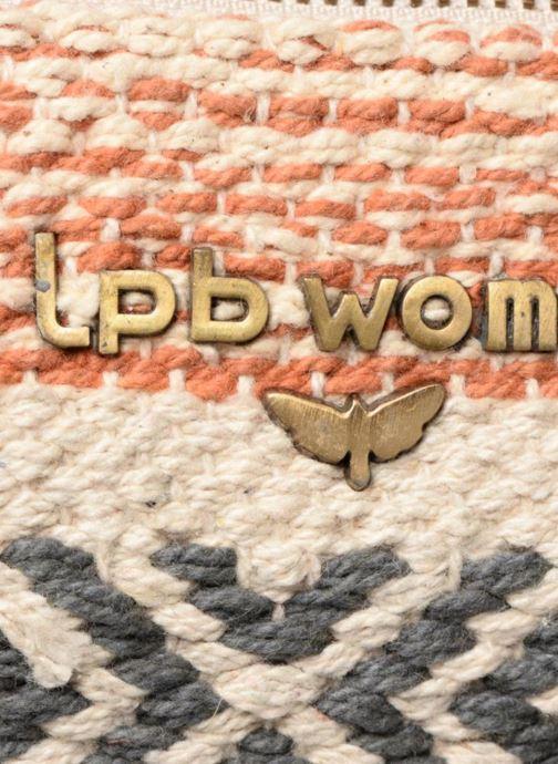 Sacs à main LPB Woman Pochette Toile Tissee Beige vue gauche
