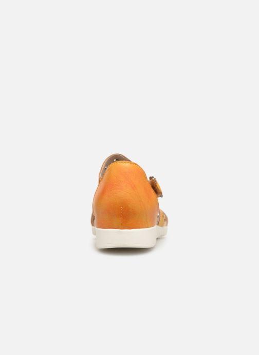 Sandalias Laura Vita Dobby 01 Naranja vista lateral derecha