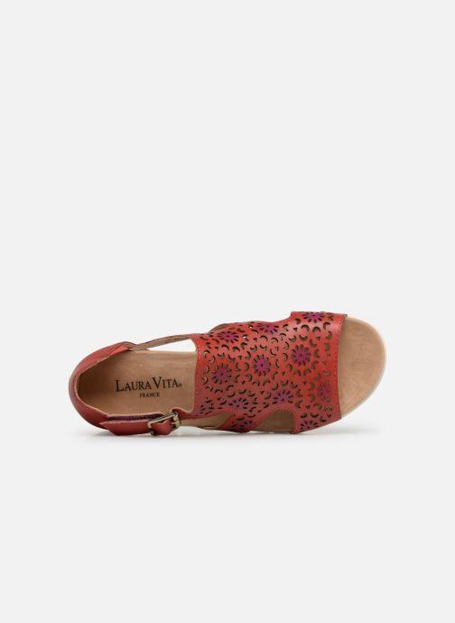 Sandales et nu-pieds Laura Vita Dobby 01 Rouge vue gauche