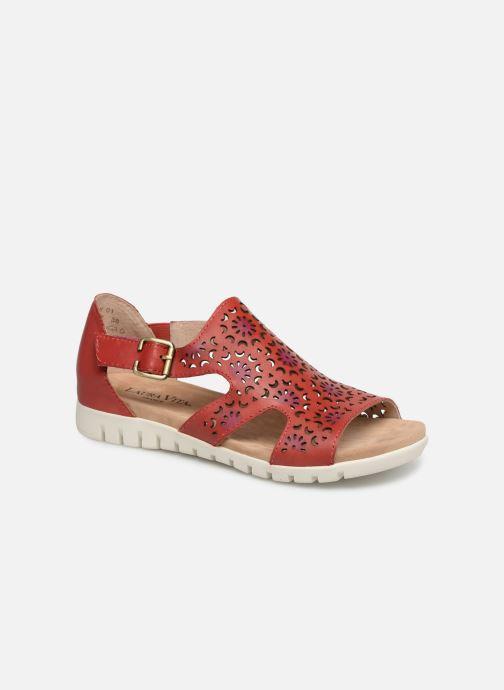 Sandales et nu-pieds Laura Vita Dobby 01 Rouge vue détail/paire