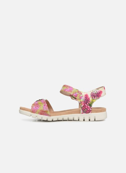 Sandals Laura Vita Dobby 03 Pink front view