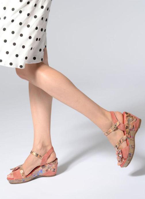 Sandales et nu-pieds Laura Vita Beaute 11 Rouge vue bas / vue portée sac
