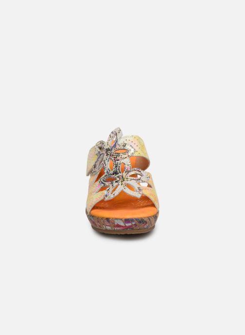 Mules et sabots Laura Vita Beaute 16 Orange vue portées chaussures
