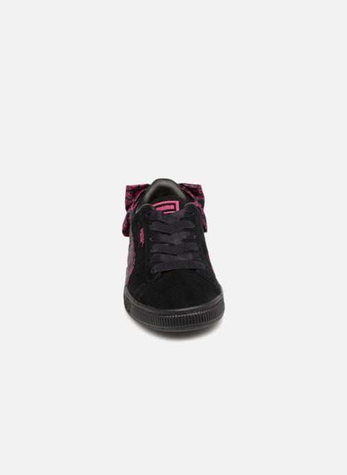 Baskets Puma SUEDE x Barbie PS Noir vue portées chaussures