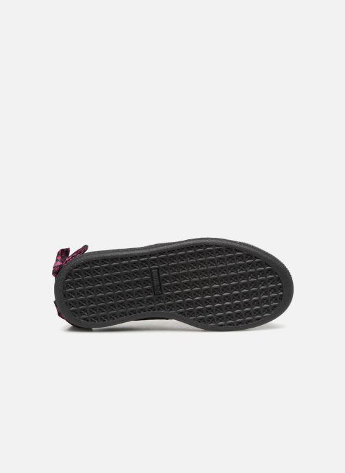 Baskets Puma SUEDE x Barbie PS Noir vue haut