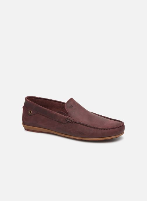 Loafers TBS Portter Burgundy detailed view/ Pair view