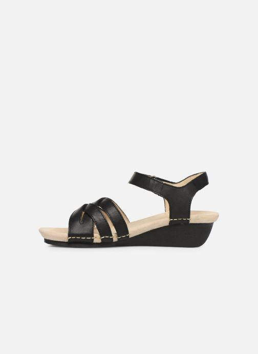 Sandals TBS Macinah Black front view