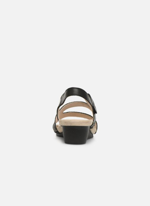 Sandals TBS Masayah Black view from the right