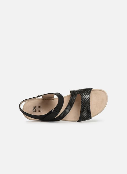 Sandals TBS Masayah Black view from the left