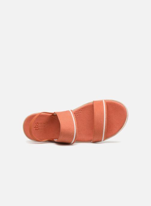 Sandales et nu-pieds TBS Mistery Rouge vue gauche