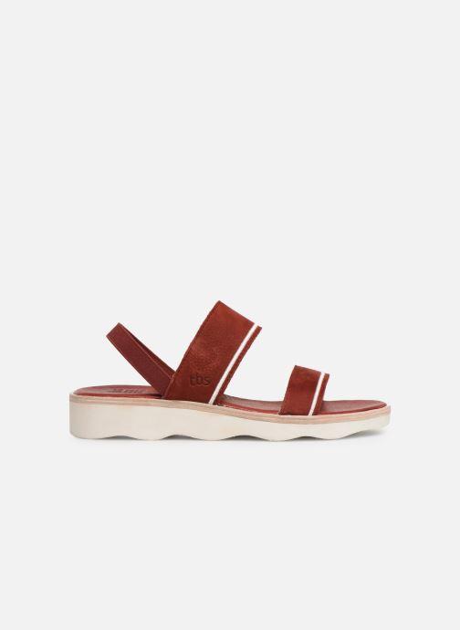 Sandales et nu-pieds TBS Mistery Rouge vue derrière