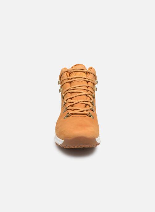 Stiefeletten & Boots Timberland World Hiker Mid braun schuhe getragen