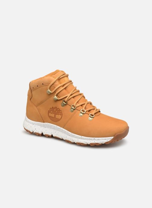 Bottines et boots Timberland World Hiker Mid Marron vue détail/paire