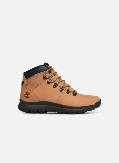 Ankle boots Timberland World Hiker Mid Beige back view