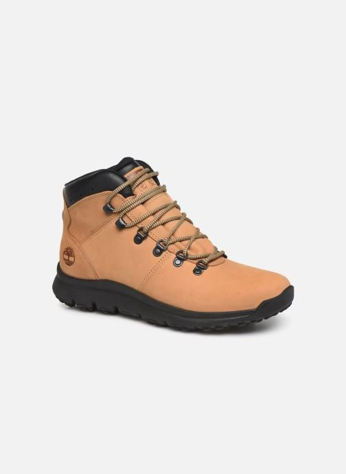 Ankle boots Timberland World Hiker Mid Beige detailed view/ Pair view