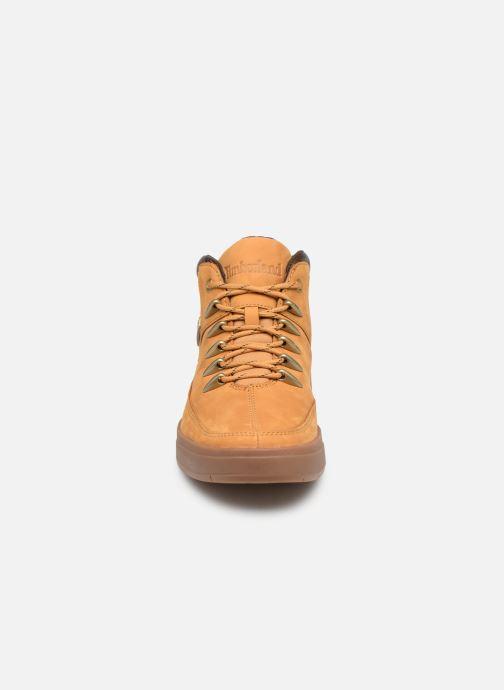 Sneakers Timberland Davis Square Hiker Marrone modello indossato