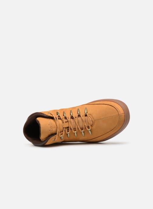 Sneaker Timberland Davis Square Hiker braun ansicht von links