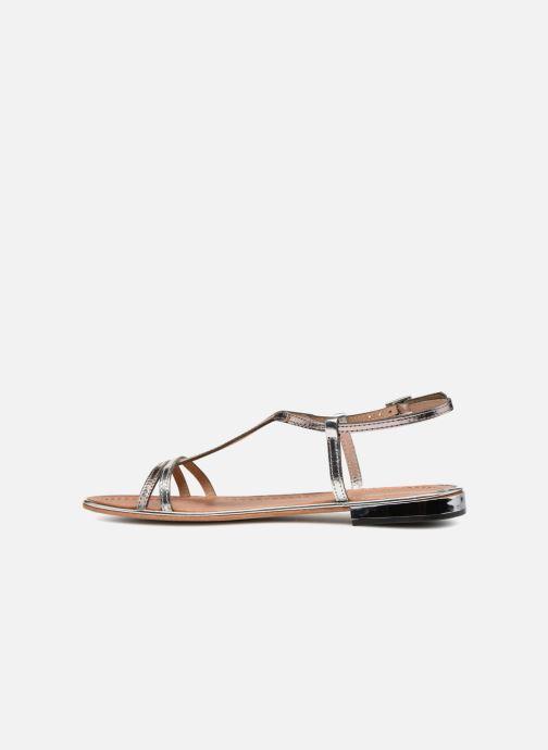 Sandales et nu-pieds Les Tropéziennes par M Belarbi Brune 2 Argent vue face