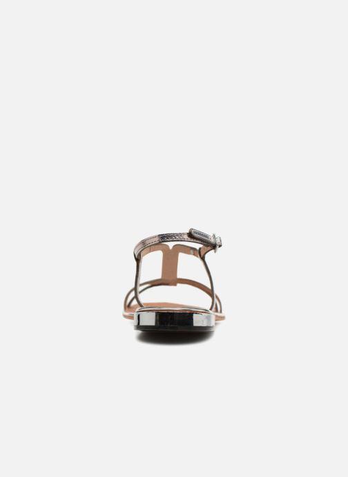 Sandales et nu-pieds Les Tropéziennes par M Belarbi Brune 2 Argent vue droite