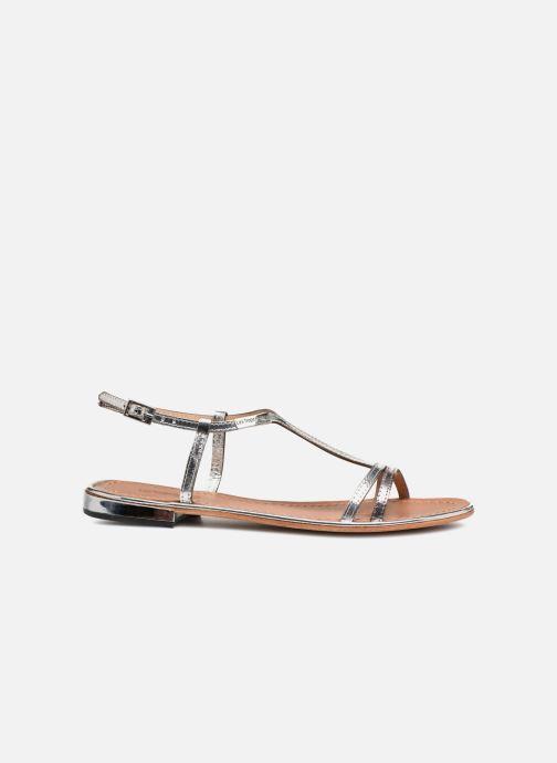 Sandales et nu-pieds Les Tropéziennes par M Belarbi Brune 2 Argent vue derrière