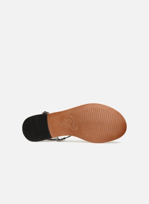 Sandales et nu-pieds Les Tropéziennes par M Belarbi Brune 2 Argent vue haut
