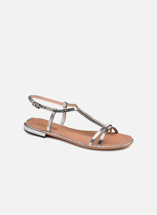 Sandales et nu-pieds Les Tropéziennes par M Belarbi Brune 2 Argent vue détail/paire