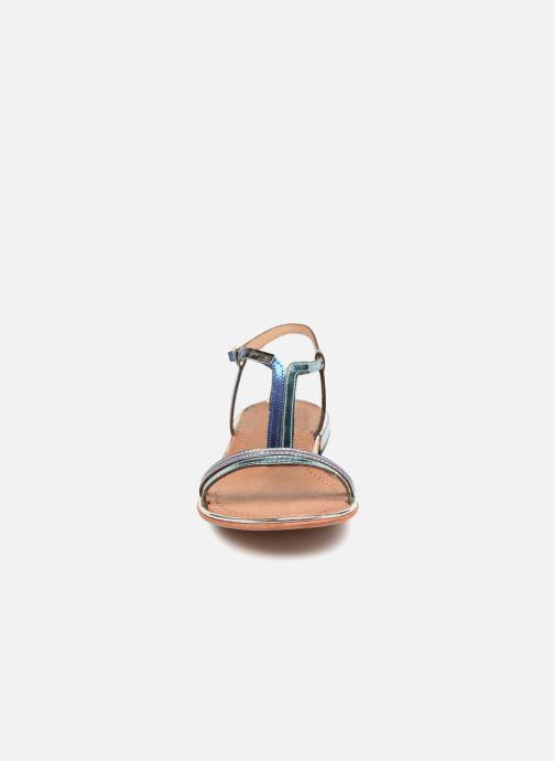 Sandales et nu-pieds Les Tropéziennes par M Belarbi Brune 2 Bleu vue portées chaussures
