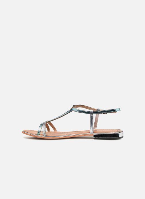 Sandales et nu-pieds Les Tropéziennes par M Belarbi Brune 2 Bleu vue face