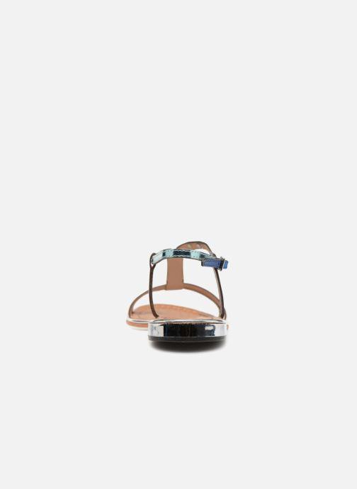 Sandales et nu-pieds Les Tropéziennes par M Belarbi Brune 2 Bleu vue droite