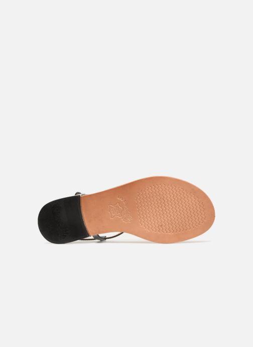 Sandales et nu-pieds Les Tropéziennes par M Belarbi Brune 2 Bleu vue haut