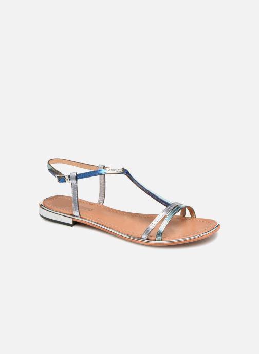 Sandales et nu-pieds Les Tropéziennes par M Belarbi Brune 2 Bleu vue détail/paire