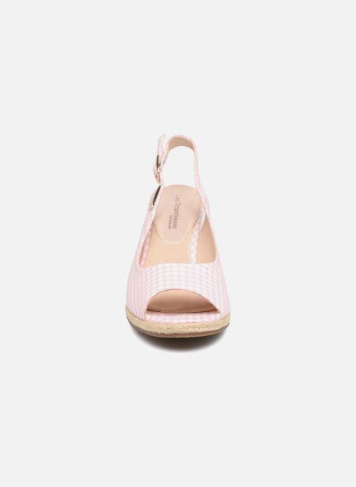 Espadrilles Les Tropéziennes par M Belarbi Cladie Rose vue portées chaussures