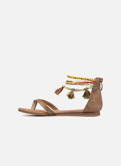Sandales et nu-pieds Les Tropéziennes par M Belarbi Gringa W Marron vue face