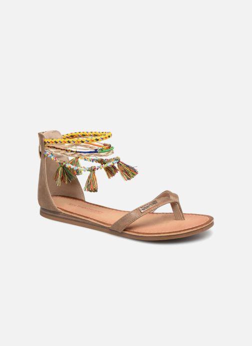 Sandales et nu-pieds Les Tropéziennes par M Belarbi Gringa W Marron vue détail/paire