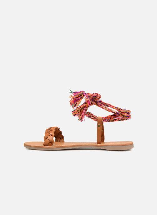 Sandales et nu-pieds Les Tropéziennes par M Belarbi Olaf Marron vue face