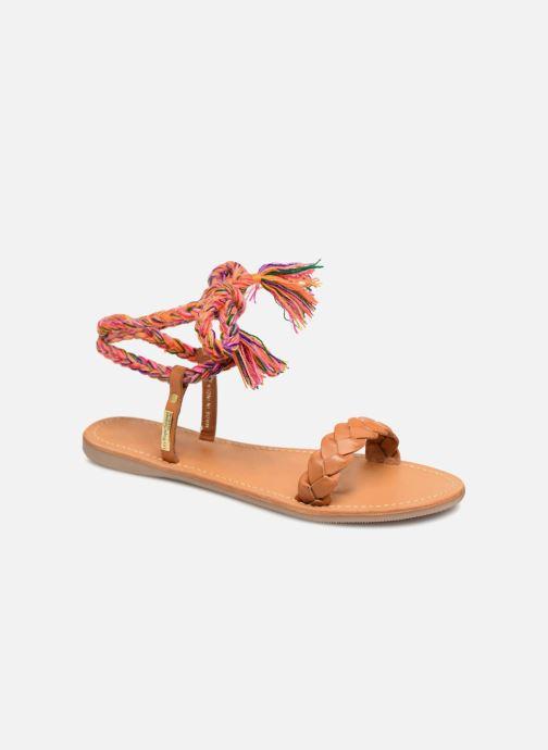 Sandales et nu-pieds Les Tropéziennes par M Belarbi Olaf Marron vue détail/paire