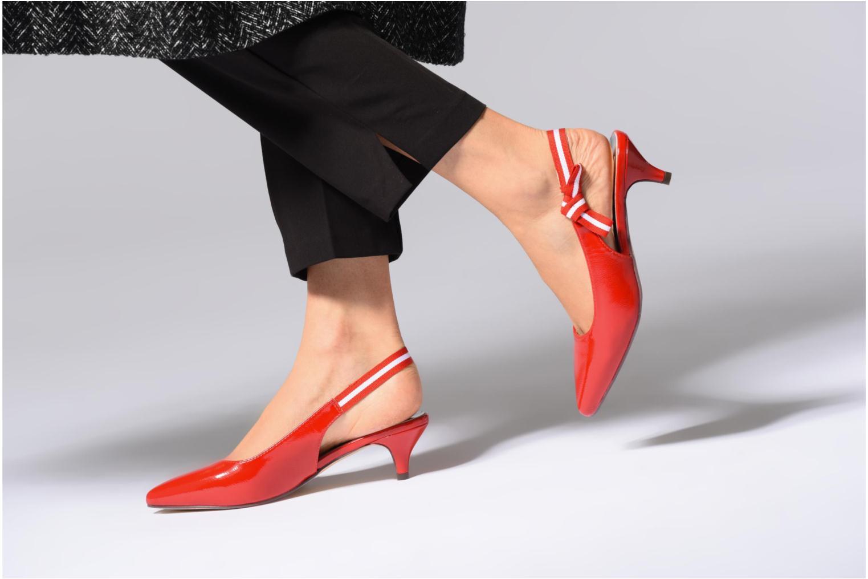 Escarpins I Love Shoes Thanon Blanc vue bas / vue portée sac