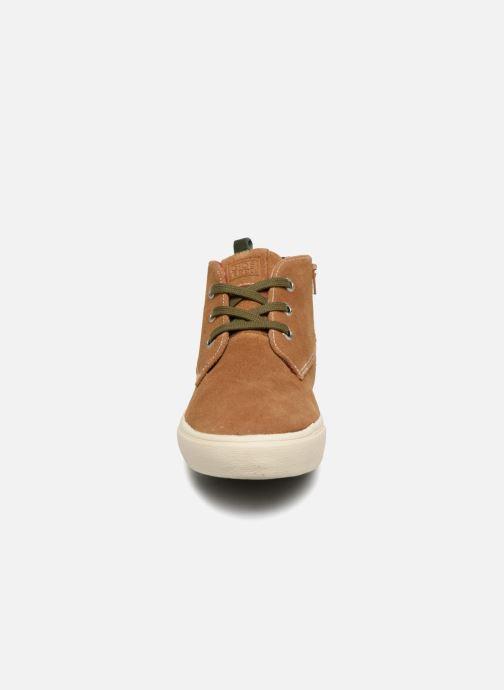 Baskets Gioseppo Depeche Marron vue portées chaussures