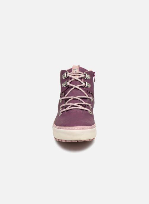 Baskets Gioseppo Ashly Bordeaux vue portées chaussures