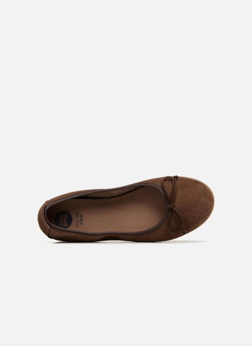 Ballet pumps Gioseppo Yarisnuv Brown view from the left