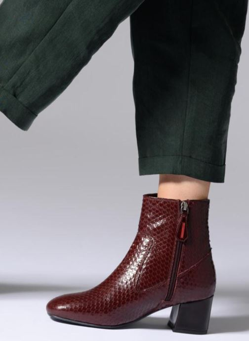 Ankle boots Gioseppo 42104 Burgundy view from underneath / model view