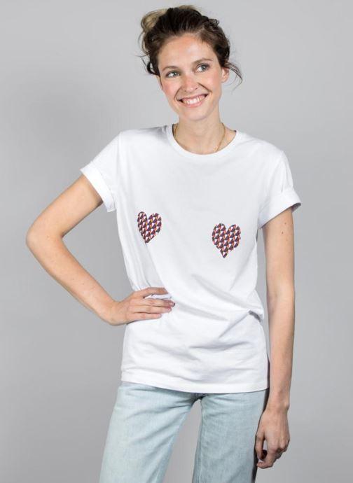 Vêtements Made by SARENZA T-Shirt Garance Made By Sarenza x Elise Chalmin Blanc vue face