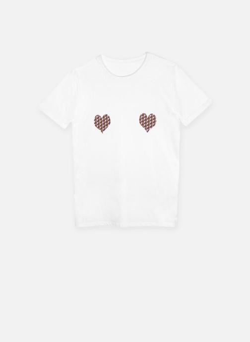 Vêtements Made by SARENZA T-Shirt Garance Made By Sarenza x Elise Chalmin Blanc vue détail/paire