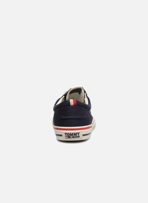 Deportivas Tommy Hilfiger Textile sneaker Azul vista lateral derecha