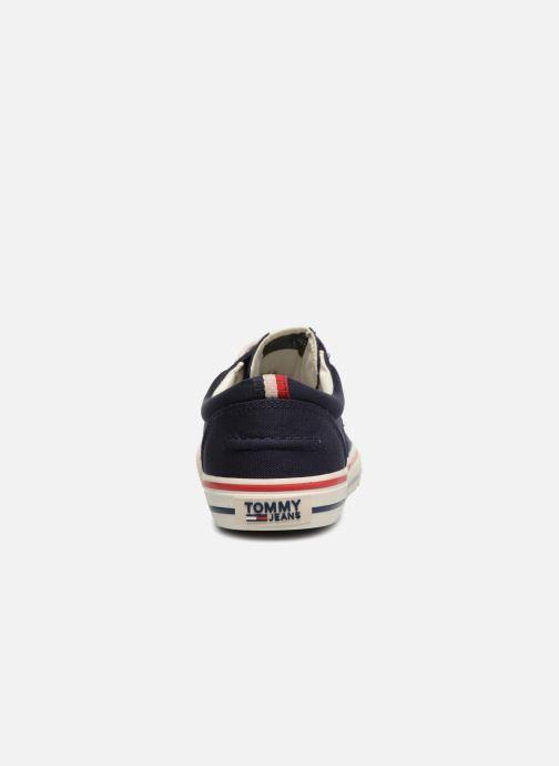 Baskets Tommy Hilfiger Textile sneaker Bleu vue droite