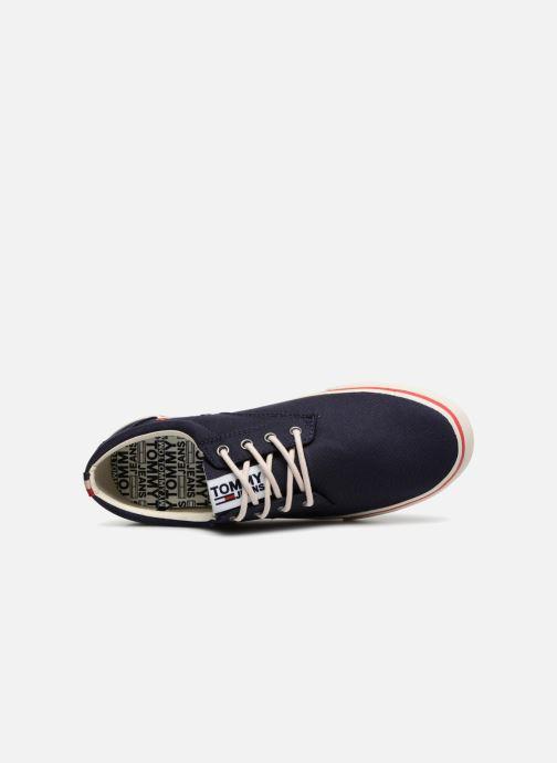 Deportivas Tommy Hilfiger Textile sneaker Azul vista lateral izquierda