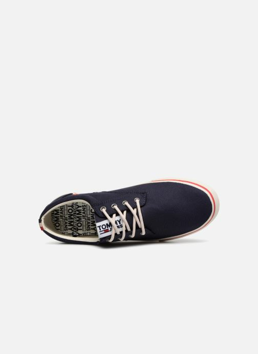 Sneakers Tommy Hilfiger Textile sneaker Azzurro immagine sinistra