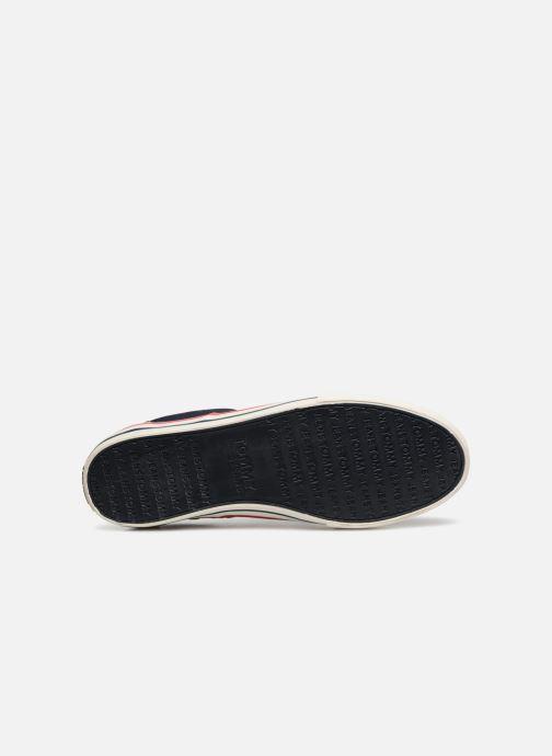 Baskets Tommy Hilfiger Textile sneaker Bleu vue haut